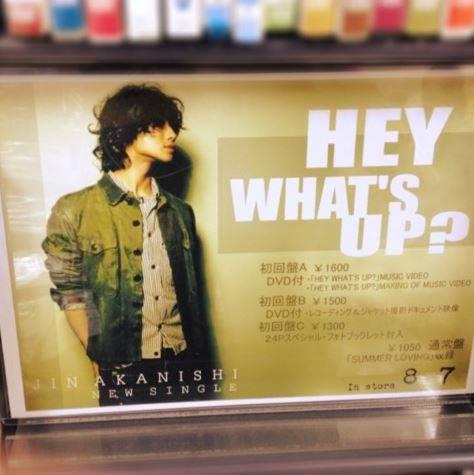 """อาคานิชิ จิน เผยรายละเอียดซิงเกิลใหม่ """"HEY WHAT'S UP?"""" ก่อนพร้อมจำหน่าย 7 ส.ค นี้!"""