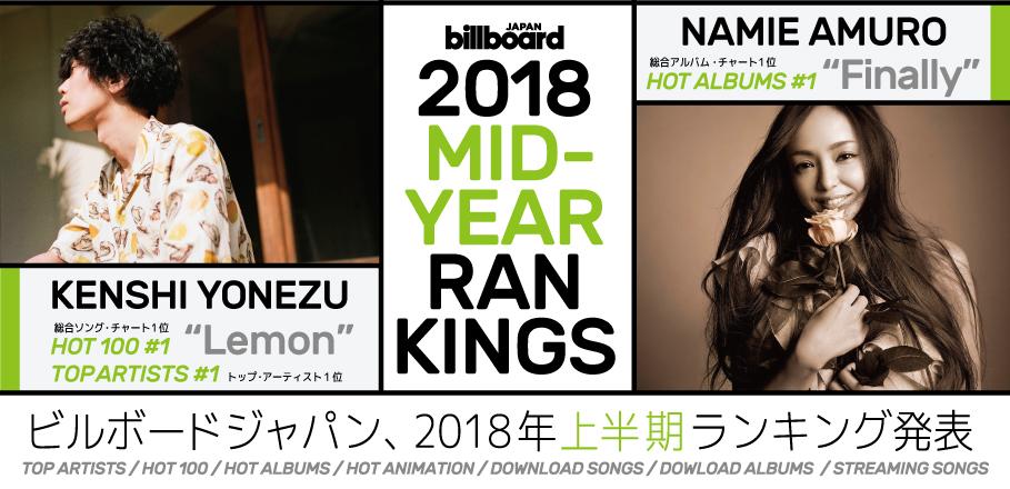 ครึ่งปีแรกของ 2018 กับ Billboard Japan