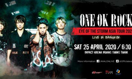 """ร็อกให้สุด แล้วหยุดที่ ONE OK ROCK อาวาลอน ไลฟ์ (Avalon Live) ประกาศข่าวดีรับปีใหม่ กับคอนเสิร์ต """"EYE OF THE STORM ASIA TOUR 2020"""" LIVE IN BANGKOK"""